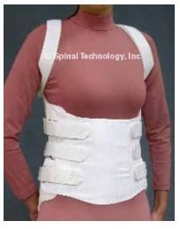 Thoracic Lumbar Sacral Orthosis - Corset Front with Axilla Straps Photo